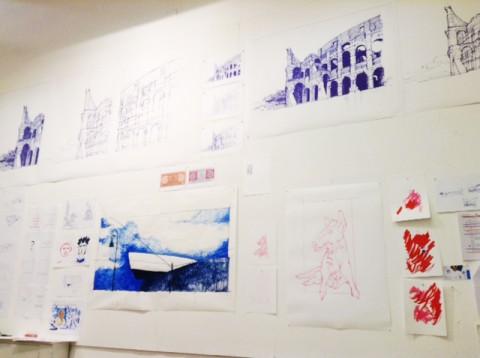 Lo studio di Craig Dykers all'American Academy in Rome