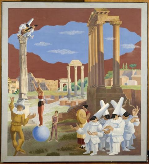 Gino Severini, L'equilibrista o Maschere e rovine (1928)