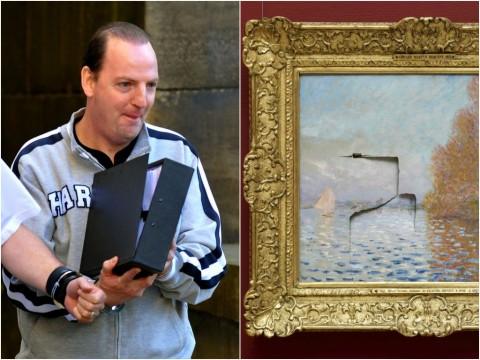 Andrew Shannon e il quadro vandalizzato