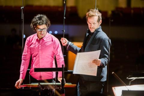 Bassem Akiki e Bryce Dessner durante le prove - photo Marcin Oliva Soto