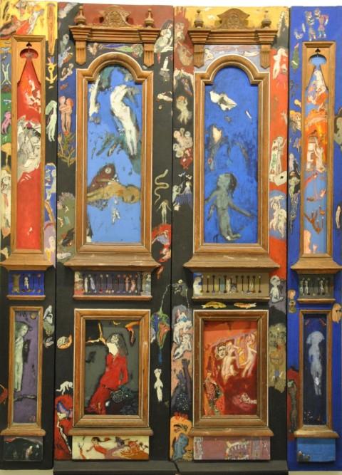 Burhan Uygur, The Door, mixed media on wood and canvas, 240 x 177 x 10 cm, 1987-1989