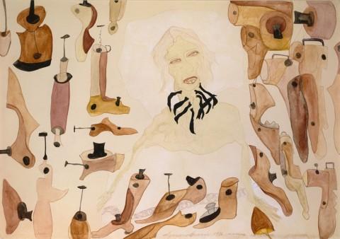 Carol Rama, Nonna Carolina, 1936 - Fondazione per l'Arte Moderna e Contemporanea-CRT – photo © Roberto Goffi, Torino © Archivio Carol Rama, Torino