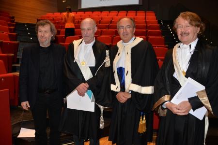 Danilo Eccher, Anselm Kiefer, Gianmaria Ajani e Werner Gephart