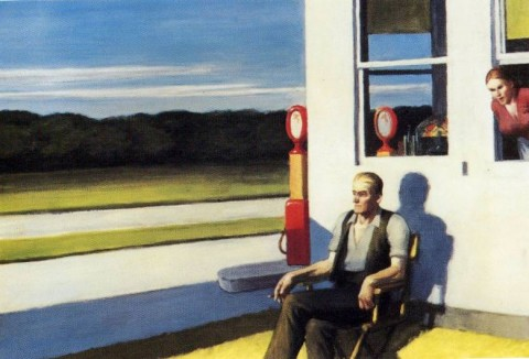 Edward Hopper, Four Lane road, 1956, collezione privata