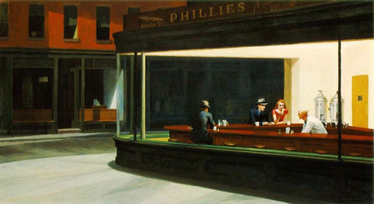 Edward Hopper, Nighthawks, 1942 - The Art Institute of Chicago