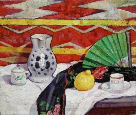 Felice Carena, Il ventaglio verde, 1914 - Collezione privata
