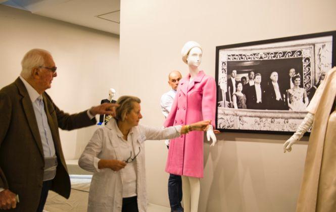 Hubert de Givenchy all'inaugurazione della mostra presso il Museo Thyssen-Bornemisza, Madrid 2014