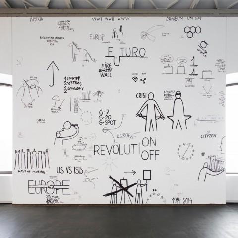 Intenzione Manifesta. Il disegno in tutte le sue forme - veduta della mostra presso il Castello di Rivoli, 2014