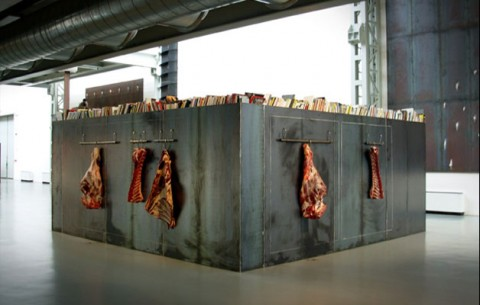 Jannis Kounellis - Atto Unico - veduta della mostra presso la Fondazione Pomodoro, Milano 2006