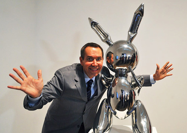 Jeff Koons con Rabbit del 1986