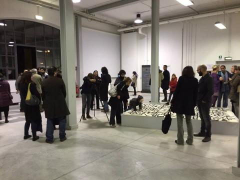 La sovversione del sensibile – veduta della mostra presso la Fabbrica del Vapore, Milano 2015