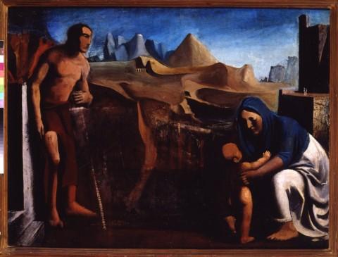 Mario Sironi, La famiglia, 1927-28 - Galleria d'Arte Moderna, Roma
