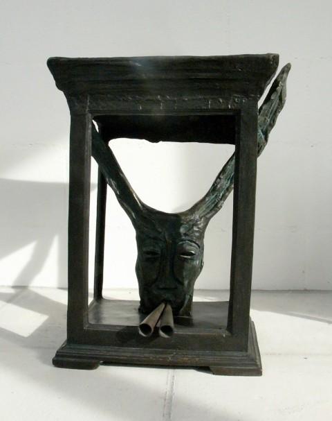 Mimmo Paladino, Asino sonoro, 1984, bronzo cm 64x53x33, collezione dell'artista, fotografia Mimmo Capone