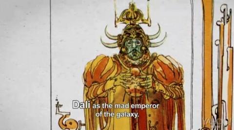 Moebius, schizzo di Salvador Dalí nel ruolo dell'Imperatore della galassia, dal documentario Jodorowsky's Dune (2013)