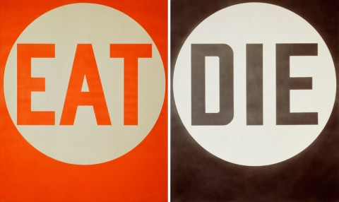 Robert Indiana EAT-DIE 1962