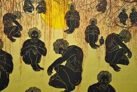 Selma Gürbüz, Purgatory, olio su tela 200 x 280, 2010