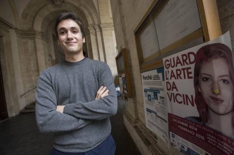 Valerio Navarra, 18 anni, studente della terza E del liceo classico Visconti – foto Corriere.it