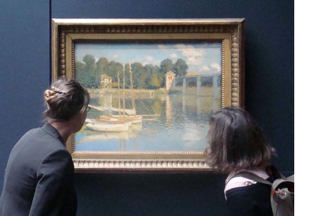 02 -Studi sul Ponte dell'Argenteuil al Museo d'Orsay- restauro di un Monet alla National Gallery di Dublino