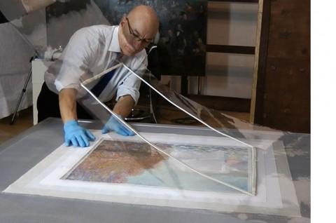 06 - Seconda tela di supporto- restauro di un Monet alla National Gallery di Dublino