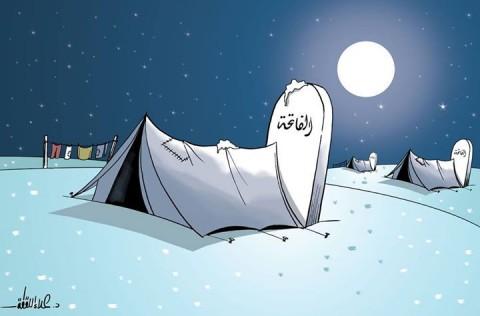 Un disegno di Alaa al-Laqta