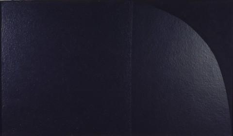 Alberto Burri, Grande nero cellotex M2, s.d. (1975), cellotex e acrilico su tela
