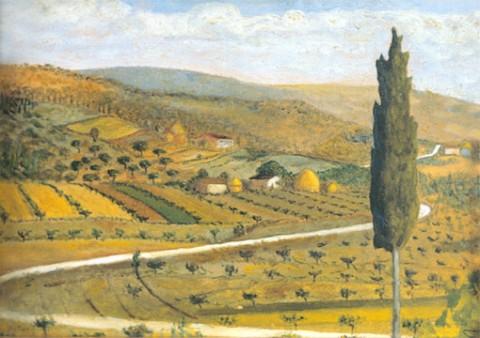 Amintore Fanfani, Pian di Guido, 1936 - olio su tela