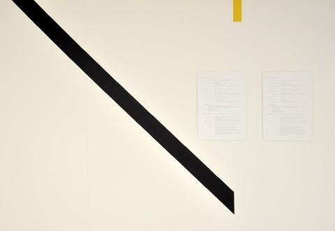 Annaïk Lou Pitteloud - Esercizio sullo stato attuale - veduta della mostra presso il Museo Cantonale d'Arte, Lugano 2014