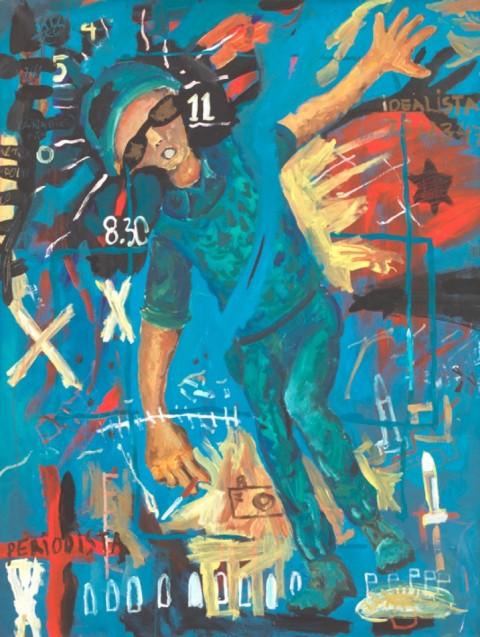 Federico Luger, War Poster, 2001