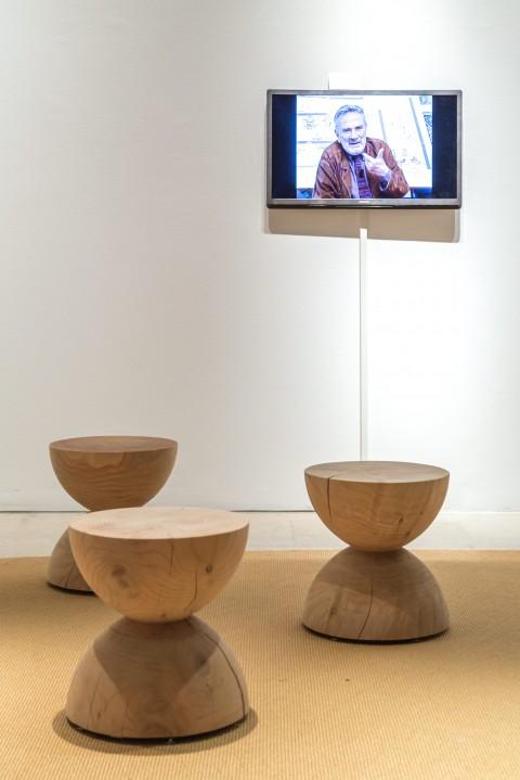 Giancarlo De Carlo - Schizzi inediti - veduta della mostra presso la Triennale, Milano 2014
