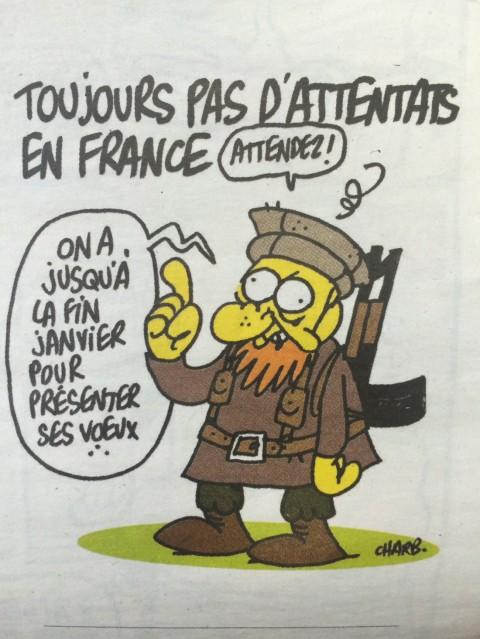 La vignetta di Charlie Hebdo pubblicata il 7 gennaio