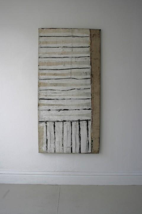 Lawrence Carroll, Untitled, 1984 - olio su tela, 185,5 x 89 x 5 cm - Collezione dell'artista - photo Carroll Studio