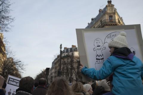 Parigi, la grande marcia per Charlie Hebdo - 11 gennaio 2015 - foto Cesar Mezzatesta