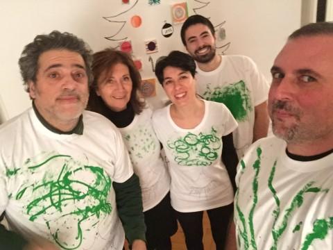 Moving Art - casa Musumeci Greco - Selfie - Giovanni De Angelis , Andrea De Fusco, Mariagrazia Pontorno, Ines Musumeci Greco, Alessandro Sarra - © Giovanni De Angelis