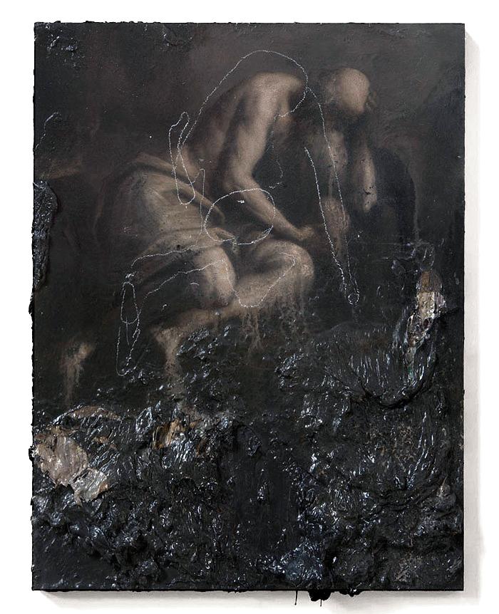 Nicola Samorì, Geremiade, 2014 - olio su legno, 40 x 30 cm