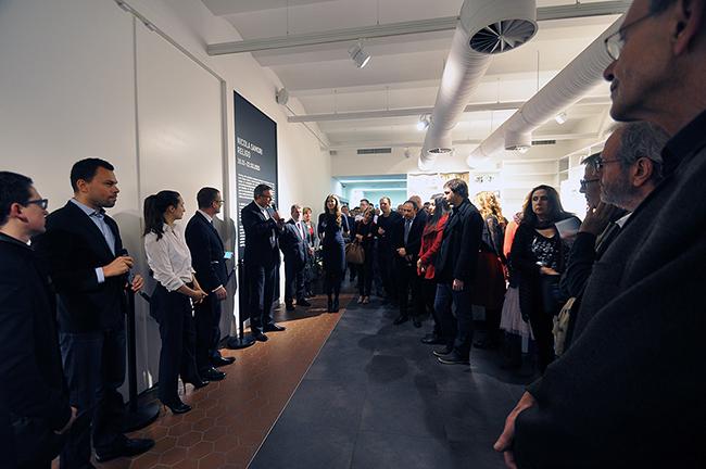 Nicola Samorì - Religo - veduta dell'inaugurazione presso il TRAFO, Stettino 2015