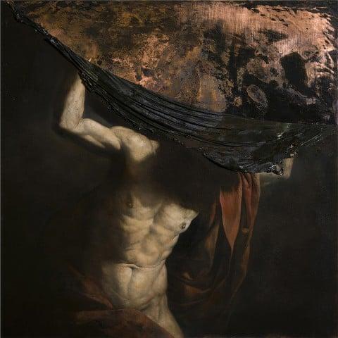 Nicola Samorì, Volta del mondo, 2014 - olio su rame, 100 x 100 cm