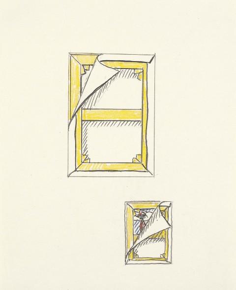 Roy Lichtenstein, Art About Art Cover. Studies, 1978 - Private Collection - © Estate of Roy Lichtenstein : SIAE 2014