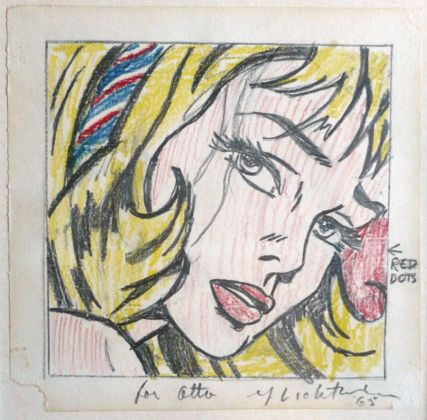 Roy Lichtenstein, Drawing for Girl with Hair Ribbon, 1965 - Collection André Bromberg - © Estate of Roy Lichtenstein : SIAE 2014