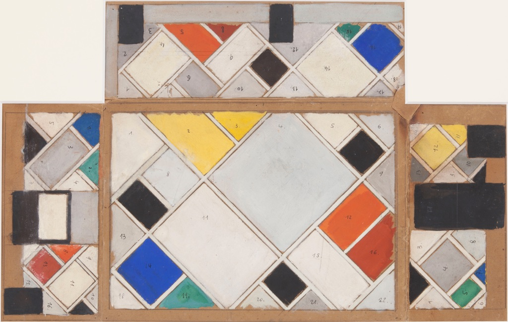 Theo Van Doesburg, Colour Design for ceiling and three walls ..., 1926 - 1927 - Courtesy Galerie Gmurzynska AG - © the Artist. All rights reserved