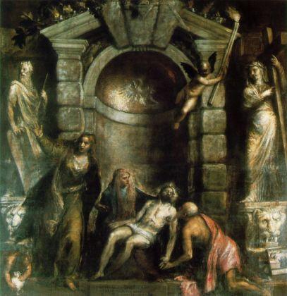 Tiziano Vecellio, Pietà, 1576, olio su tela, 352 x 349 cm, Venezia, Gallerie dell'Accademia