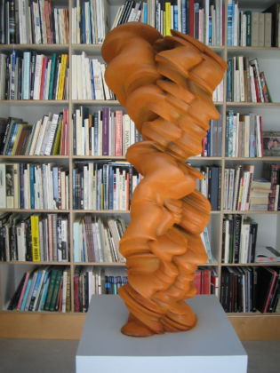Tony Cragg, Mixed feelings, 2010, acciaio, 100 x 43 x 41 cm, © Courtesy Buchmann Galerie Agra-Lugano and the artist