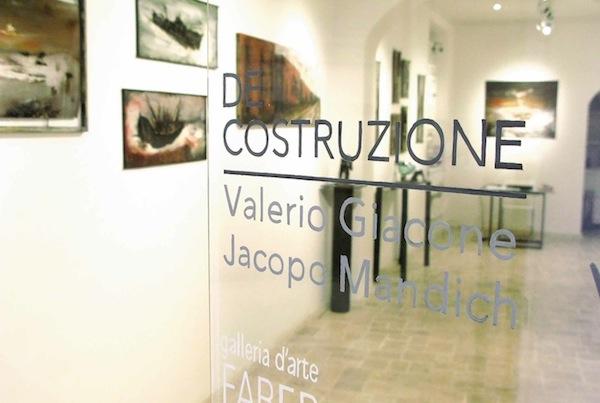 Valerio Giacone : Jacopo Mandich - De costruzione - veduta della mostra presso la Galleria Faber, Roma 2014
