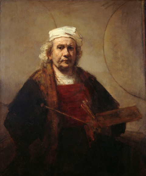 Rembrandt van Rijn, Autoritratto con due cerchi, c. 1665-1669 - Kenwood House, The Iveagh Bequest, London