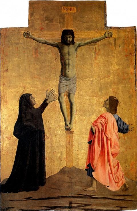 Piero della Francesca, Polittico della Misericordia, Crocifissione (1444-64)