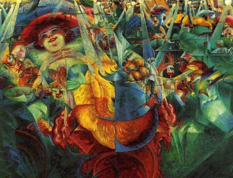 Umberto Boccioni, La risata (1911) - MoMA, New York
