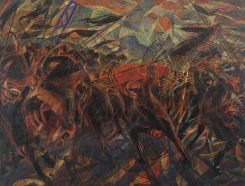 Carlo Carrà, I funerali dell'anarchico Galli (1910-11)