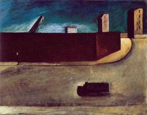Mario Sironi, Paesaggio urbano (1920)