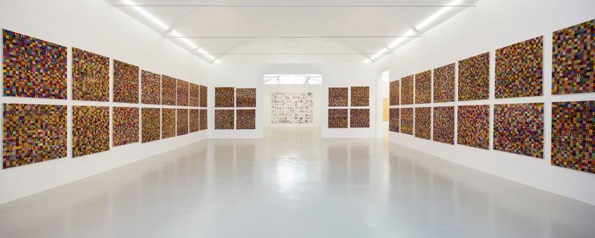 Alighiero Boetti – Tra sé e sé, abbracciare il mondo - veduta mostra della mostra presso la Galleria Christian Stein, Milano 2015
