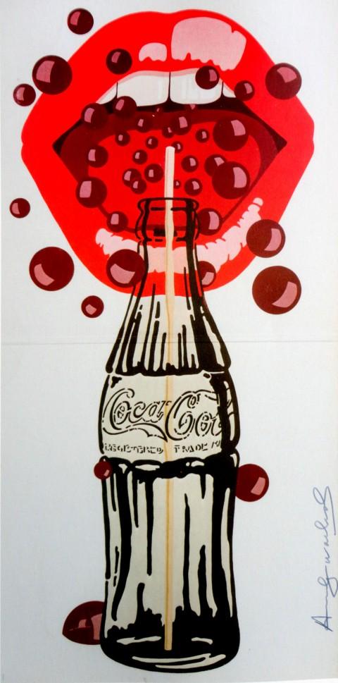 Andy Warhol, Velvet Underground, serigrafia su carta, pezzo unico, 63 x 31 cm. Collezione privata