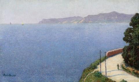 Angelo Morbelli, Veduta di Capo Noli, 1915 Enrico Gallerie d'Arte - Milano
